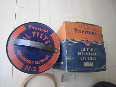 Vintage NOS Firestone Oil Filter Replacement Cartridge PF-2 Man Cave