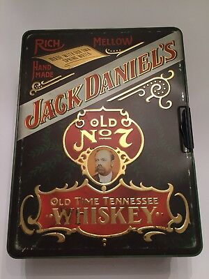 Vintage Jack Daniels Whiskey Poker Set in Tin Box Nice Condition 4 your Man Cave