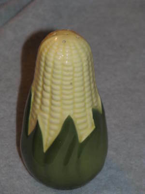"Vintage Shawnee Pottery Corn King Corn On Cob Salt Shaker 5.5"" Tall No Stop EUC"