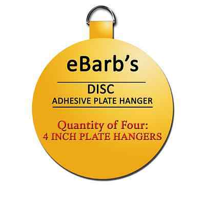 Four 4 in hangers-eBarbu0027s Disc Plate Hangers-BEST PRICES! SEE OUR STORE  sc 1 st  PicClick & FOUR 4 IN hangers-eBarbu0027s Disc Plate Hangers-BEST PRICES! SEE OUR ...