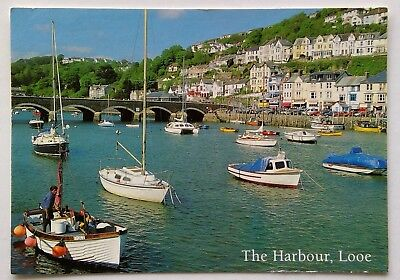 Looe The Harbour 2001 Postcard (P298)