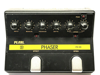 Pearl PH-44, Phaser, Made In Japan, 1980's, Vintage Guitar Effect Pedal