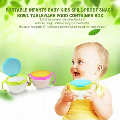 Portable Infants Baby Kids Spill-Proof Snack Bowl Tableware Food Container Box K