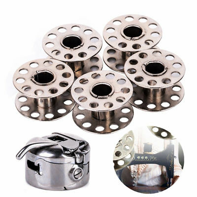 5 Bobbin + 1 Bobbin Case Sewing Machine Parts Stainless Stell Metal Wire Spool