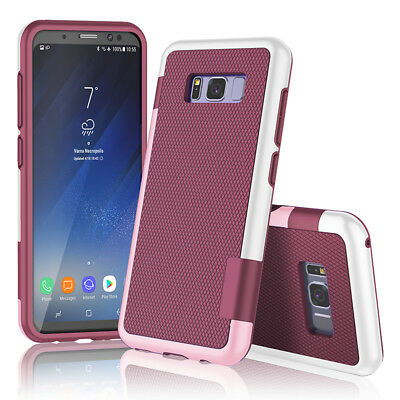 Samsung GALAXY S8/S8 PLUS Matte SLIM HYBRID Armor Rubber Rugged Case Phone Cover