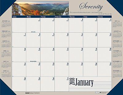 House of Doolittle 2018 Monthly Desk Pad Calendar, Motivational, 22 x 17 Inches,
