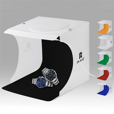Portable Photo Studio Lighting Mini Box Photography Backdrop LED Light Tent UK