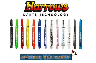 Harrows Supergrip Ring Lock Darts Shafts / Stems (Choose your color and length)