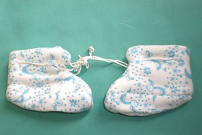 Babyschuhe hellblau/weiss/ babydoll shoes light blue/white