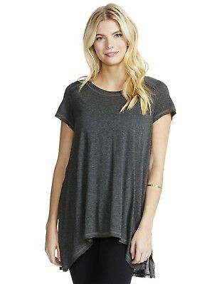 NWT Jessica Simpson Pull Over Nursing Tunic Top - Large - Gray