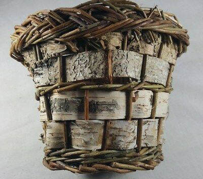 "8"" x 6"" Wicker Bark Circular Basket"