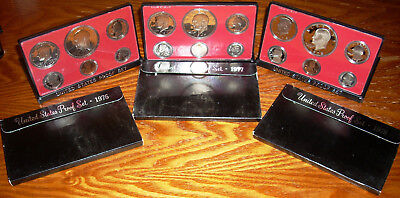 1976 S 1977 S 1978 S US Mint Proof sets 3 Ikes 18 coins Kennedy half with box