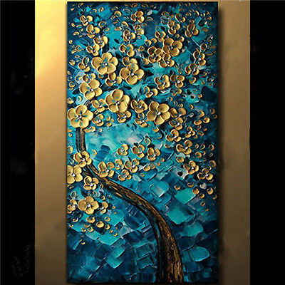 """YA#523 Hand-painted Thick Palette knife oil painting Peacock tree No Frame 48"""""""