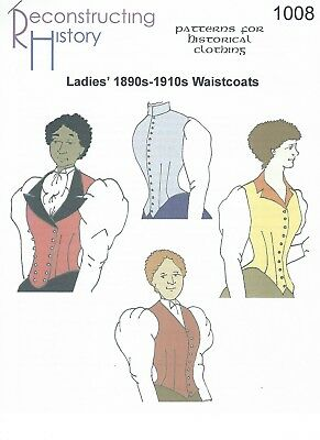Schnittmuster RH 1008 Paper Pattern: Ladies' Vest for 1890s to 1910s