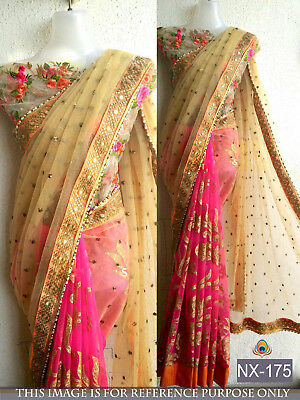Ethnic Designer Saree traditional Pakistani Wedding Party wear Beautiful saree
