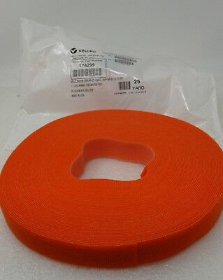 "Velcro Brand One- Wrap Strap # 174299 25 Yard ( New) 1"" Orange760"