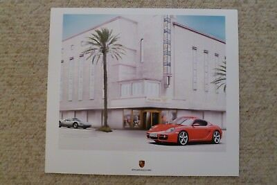 2008 Porsche Cayman S Showroom Advertising Sales Poster RARE!! Awesome L@@K