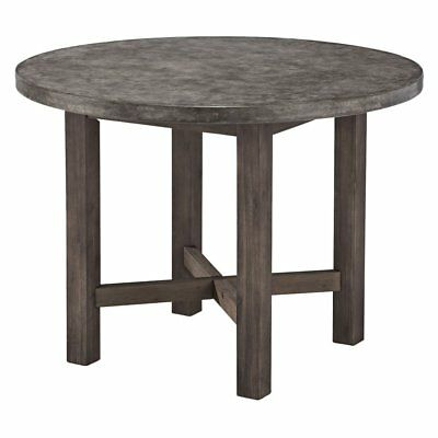 Home Styles Urban Concrete Chic Round Dining Table, Brown, Small
