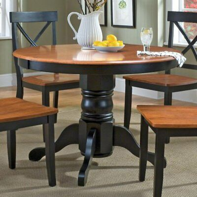 Home Styles & Cottage Oak Dining Table, Black, Small