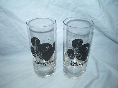 2 Verres Disneyland Paris Mickey Mouse Disney Made In France 13.5 Cm / D = 6Cm