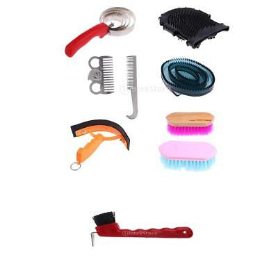9pcs Equestrian Horse Grooming Kit Brush Comb Accessory Horse Cleaning Set