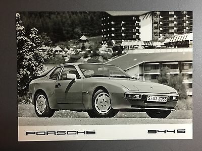 1987 Porsche 944 S Coupe Porsche Factory Issued B&W Press Photo RARE!! Awesome