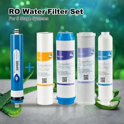 5x Complete RO Water Purifier Filter Cartridges set Food Grade Fluoride Removal