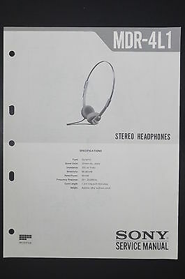SONY SERVICE Manual MDR IF8000 Cordless Headphones (#6273) - EUR 16 ...