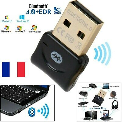 Adaptateur clé USB Bluetooth CSR 4.0 Dongle pour Window XP/Vista/7/8/10 Computer