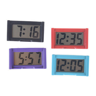 Auto Digital Car Dashboard LCD Clock Time Date Display Self-Adhesive Stick On PL