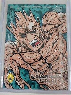 2017 Upper Deck Guardians of the Galaxy Vol.2 Groot Sketch Card 1 of 1