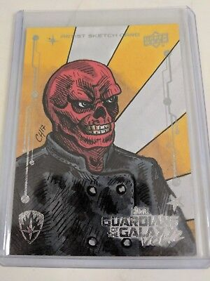 2017 Upper Deck Guardians of the Galaxy Vol.2 Red Skull Sketch Card 1 of 1