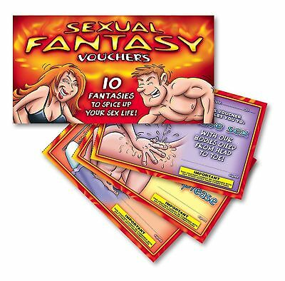 NEW Adult Novelty Booklet Vouchers Naughty Bedroom Sex Cheques Valentines Day UK