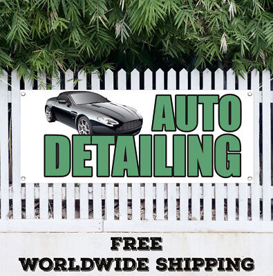 Car Wash Advertising Business Auto Detailing Wax Vinyl Banner Sign