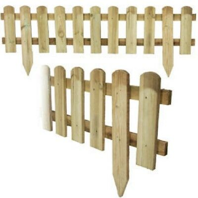 Garden Picket Fence Panel Lawn Grass Edging Border Panels