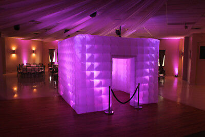 9.8ft Inflatable Cube Photo Booth Air Tent Portable Photobooth+LED Lights+Blower