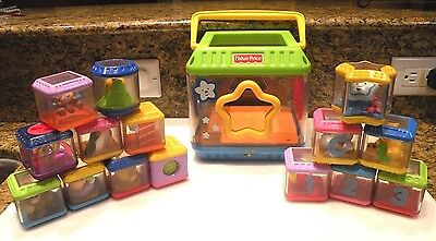 LOT 16pc - Fisher Price Blocks With Sound