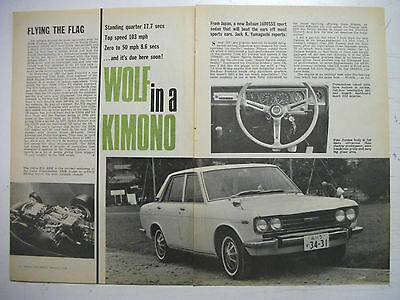 1968 Datsun 1600Sss Tested In Japan 4 Page Australian Magazine Road Test