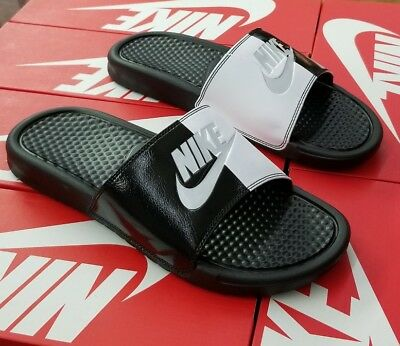 uk availability 518ef 69790 Nike Benassi Jdi Slide 343880 015 Black pure Platinum-Black Men Us Sz 7