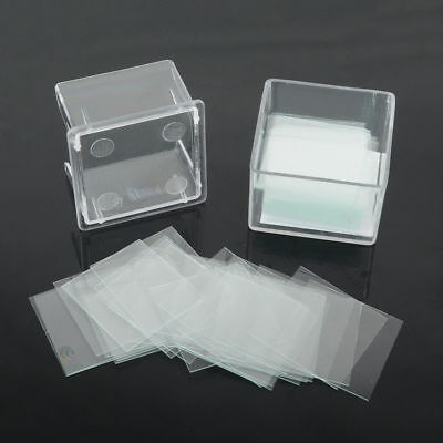 100PCS 22X22mm Blank Microscope Square Cover Glass Coverslip Slides Lab Set Kit
