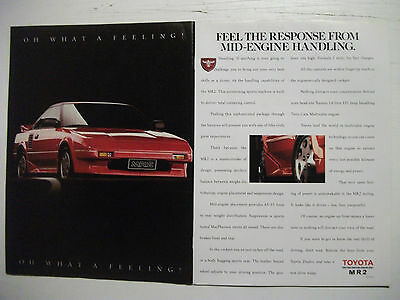 1989 Toyota Mr2 Oh What A Feeling 2 Page Australian Magazine Advertisement