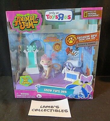 2016 Jazwares Animal Jam Snow Fort Den Set New Toys R Us