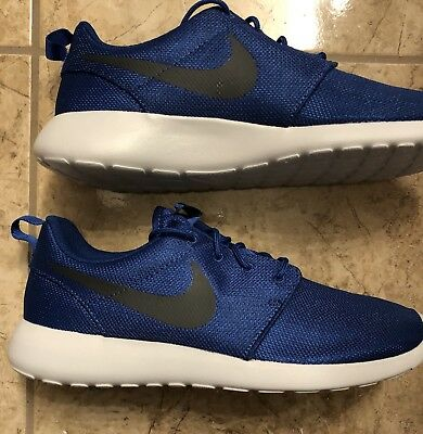 5cecbf468300 New Nike Roshe One Mens 511881-417 Gym Blue Platinum Mesh Running Shoes  Size 9