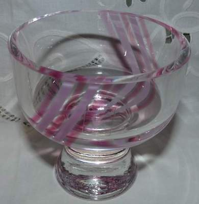 Caithness,Scotland. Crystal/Glass Posy Vase/Candle Holder ?  W Label.