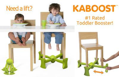 KABOOST portable booster seat (natural chocolate green)