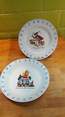 Lord Nelson Pottery Vintage Alphabet Nursery plate and Bowl