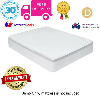 Giselle Bedding Fully Fitted Waterproof Bamboo Mattress Protector Double Bed