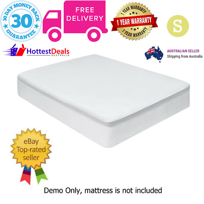Giselle Bedding Fully Fitted Waterproof Bamboo Mattress Protector Single Bed