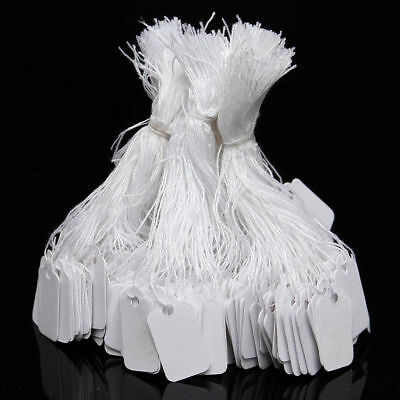 500x Label Tie String Strung Jewelry Clothing Merchandise Display Price Tags