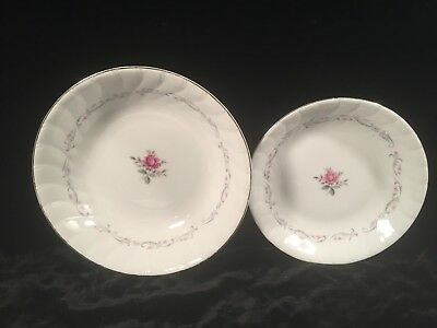 "Royal Swirl by FINE CHINA OF JAPAN Coupe Soup Bowl & 9"" Round Vegetable Bowl"